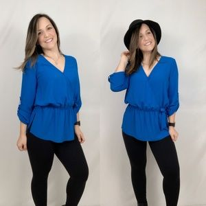 Karen Kane Faux Wrap Tunic Top